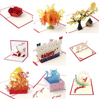3D Pop Up Holiday Greeting Card Feliz aniversario Christmas Gifts MAG