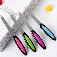 Vente en gros - 1pcs Double Sided Metal Nail File For Manicure Pedicure Podiatry Color Random Women Beauty Nail Tools