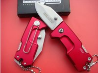 Wholesale Titanium Plate Camp - EXTREMA RATIO Mini Folding knife Pocket Hunting Knives 440C 58HRC Plating Black Blue Red Titanium Blade Aluminium Handle 1pcs freeshipping