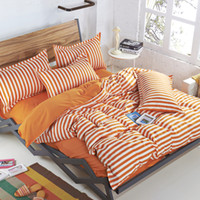 Wholesale doona bedding sets for sale - Group buy Summer Fashion Stripes Bedding Set Queen Full Twin Size Duvet doona Cover Flat Sheet Pillow Cases Kit