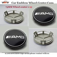 Wholesale Wheel Cap 16 - 75MM car emblem wheel center caps for W211 AMG W203 W204 W124 W201 AMG W202 W212 W220 W205 GLA CLA for AMG logo embelm center covers