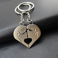 Wholesale New arrival sets lovers kissing metal key holder holiday gift