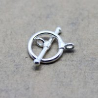 Toggle Clasp Real Pure Silver 925 Sterling Silver Jewelry Findings Composants Accessoires DIY accessoires de gros diy