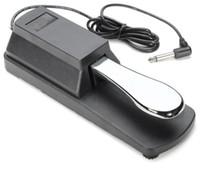 teclados de plastico piano al por mayor-Teclado de Piano eléctrico Sustain Pedal Damper Pedal cromado Plateado Shell de plástico Instrumento musical Órgano electrónico Sustain Ped