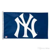 Wholesale New York Yankees Flag Baseball Team Flag Baseball Club Fan Flags Cool Black White Banner Champion Celebration Flags Party Decoration
