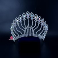 Crowns Rhinestone Swarovski Elements Crystal Miss Beauty Pageant Queen Crown Weddings Eventi Accessori per la sposa Copricapo Copricapo Mo216