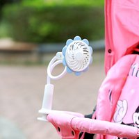 Wholesale Fashion Portable Micro USB Fan With Bendable Clip Adjustable Sun Flower Shape Rechargeable Fans For Baby safety fan