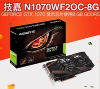 Wholesale Pci E Video Card Hdmi - Gigabyte N1070WF2OC-8GD alone graphics card gtx1070 non-public version of the game video card vr shortage of supply of goods