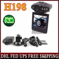 lcd-format großhandel-30PCS Wholesale HD 720P H198 Auto DVR mit 2,5 TFT LCD BILDSCHIRM 6 LEDS für IR- und Nacht-visio-Videoformat Freies Verschiffen