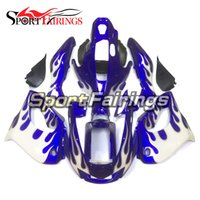 Wholesale Yamaha Thunderace - Fairings For Yamaha YZF1000R Thunderace 1997 1998 1999 2000 2001 2002 2004 2005 2006 007 ABS Plastic White Blue Flames Motorcycle Covers New