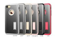 Wholesale Gold Vein - New style Kickstand TPU carbon fiber thin veins 3 in 1 fashion case cover for iphone7 6s plus