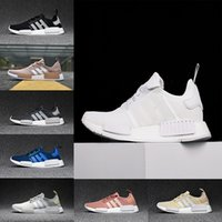 Wholesale 2017 NMD Runner R1 Mesh Salmon Talc Cream Olive Triple Black Men Women Running Shoes Sneakers Originals Fashion NMD Runner Primeknit Shoes