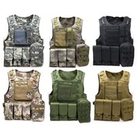 Wholesale Camouflage Hunting Military Tactical Vest Wargame Body Molle Armor Hunting Vest CS Outdoor Jungle Equipment with Colors