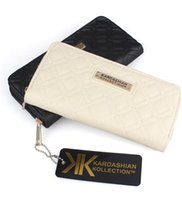 Hot Sell Fashion KK Kardashian Wallet Long Design Mulheres PU Leather Kollection High Clutch Bag Bolsa Zipper Coin Purse Handbag