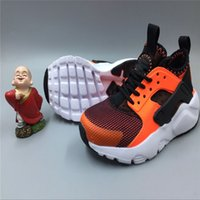 Wholesale Kids Cheap Running Shoes - kids shoes 2017 the Classical Huaraches Running Shoes For kids, Breathable Cheap Air Huarache Athletic Sport Sneakers Eur Size 28-35