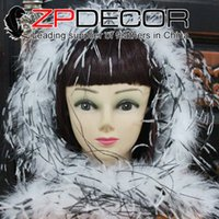Wholesale Black Ostrich Boa - NEW ZPDECOR Feathers 35g 2yards lot pretty soft black white ostrich feathers boa cheap For Costumes Cosplay Decoration