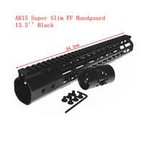 "Wholesale Float Bracket - hunterking 13.5"" inch Free Float NSR KeyMod Handguard Mount Bracket with Detachable Rail BLACK Barrel Nut For AR-15 M4 M16"