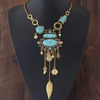 Wholesale Vintage Design Element - Brand Design Long Necklace Women Multi Element Necklaces & Pendants Maxi Statement Necklace Choker Vintage Collier Femme
