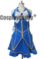 traje de cosplay lucy venda por atacado-Fantasia de Cosplay Lucy Rabo de Fada