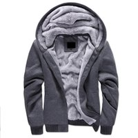 Wholesale Tracksuit Mens Colors - 2017 Hotest 5 Colors Brand Thick Wool Warm Winter Coats Men's Hoodies And Sweatshirts Outwear Polo Hooded Sportswear Tracksuits For Mens