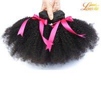 kıvırcık afro saç ürünleri toptan satış-En Çok Satan Işlenmemiş Brezilyalı Ürünleri 7A Ucuz Afro Kıvırcık Bakire Saç 3 Demetleri çok Afro Kıvırcık Saç İnsan Saç Örgüleri