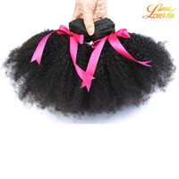 Wholesale natural afro hair products for sale - Group buy Top Selling Unprocessed Brazilian Products A Cheap Afro Curly Virgin Hair Bundles Afro Curly Hair Human Hair Weaves