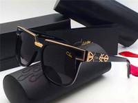 Wholesale Germany Green - vintage sunglass Germany designer CZ8025 sunglasses steampunk style men brand deisnger with original case sunglasses for square frame