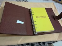 Wholesale Hot Book Sale - Famous Brand Agenda Luxury Brand Note BOOK Cover Leather Diary Leather with dustbag and box card Note books Hot Sale Style