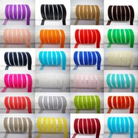 "Wholesale Trims Wholesale China - Solid Color Velvet Applique Trim Decorated Ribbon 10mm Sewing Supplies for Craft DIY Accessories 100 yards 3 8""10mm A variety of color"