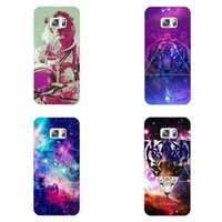Wholesale Dream Mobile Phone - Fashionable mobile phone shell tiger pattern personality star sky dream pattern for Samsung s7s7edge s6 s6edge s5 s5mini case pc case hard s