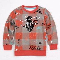 Wholesale Nova Kid Long Sleeve Boy - baby boy t shirt high quality autumn hoodies nova plaid cotton long sleeve outerwear kids boy clothes for boys and retail A3579