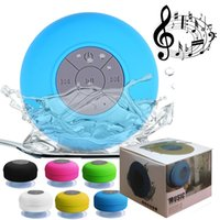Wholesale Music Box Cars - Mini Portable Subwoofer Shower Waterproof Wireless Bluetooth Speaker Car Handsfree Receive Call Music Suction Mic For iPhone Samsung