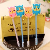 Wholesale Pens Favors - Wholesale-12PCS Baby shower party favors cute Owl neutral Pen kids birthday party supply decoration gift souvenirs