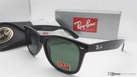 Wholesale Mixed Color Case - 2017 Vintage Sunglasses RAY Men Women 52mm Brand Cat Eye Sun Glasses Bands BAIN Mirror Gafas de sol Lenses BEN BANS with cases