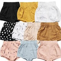 Wholesale Girl Nappies - Toddler Infant Baby Girl Boy Cotton Shorts PP Pants Nappy Diaper Covers Bloomers