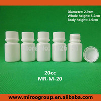 Wholesale Medicine Caps - Free Shipping 100+2pcs 20ml 20g 20cc White Plastic Medicine Pill Bottles, Medicine Container Pill Bottles with Tamper Proof Caps