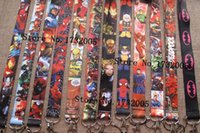 Wholesale Stainless Steel Neck Chains - DHL EMS New Marvel Movies Avengers Superheros Cello Phone key chain Neck Strap Keys Camera ID Card Lanyard Y-010