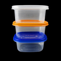 Wholesale Lunch Boxes Heat - 350ml Food Containers Lunch Box Heat Resistant Plastic Transparent Food Storage Microwave Fruit Keep Fresh Kitchen Storage Box