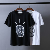 Wholesale Mens Round Neck Tee Shirts - 2017 Fashion World Famous Brand Man Casual T-shirt Men's Short Sleeves The Skeleton Elf Printing Round Collar T Shirt Mens Tops &Tees