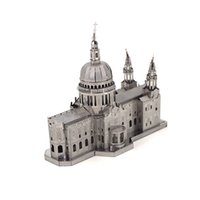 Metal st models - Metallic Nano Steel D DIY Jigsaw Puzzle St Paul s Cathedral Model Toy Excellent Kids Educational Toy Gift