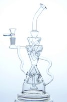 Wholesale Fancy Types - CCG Fab egg Recycler with showerhead perc fancy design 14.5mm joint 12 inch height