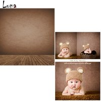 5x7ft Vinyl Backdrops para foto estúdio Brown Wall Photography Background Wood Floor For Children Frete grátis
