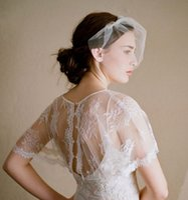 Wholesale Ivory Birdcage Wedding Veils - Manual Cheap Ivory & White Tulle Birdcage Wedding Dress Veils One Layer Short Bridal Wedding Veil Accessories