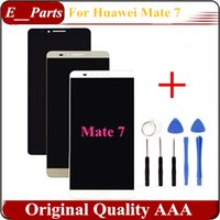 Wholesale Digitizer Ascend - 1Pcs For Huawei Ascend Mate 7 Mate7 Mt7-TL09 Mt7-TL10 LCD Display Touch Digitizer Assembly Replacement White   Black  Gold With Open Tools
