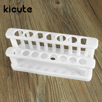 Großhandel-Kicute Hot Plastic Test Tube Rack 15 Löcher und 9 Pins Holder Support Burette Stand Lab Test Tube Stand Shelf School Supplies