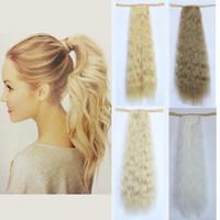 extensiones de cabello rubio blanco al por mayor-Venta al por mayor-alta calidad 20