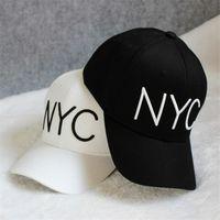 Wholesale Flat Caps Nyc - NYC Brand Letter Snapback Cotton Unisex Hiphop Flat Hat Baseball Cap Women