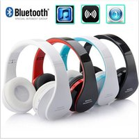 Wholesale bluetooth head sets - NEW NX-8252 Stereo Casque Audio Mp3 Wireless Bluetooth 3.0 Headset Wireless Headphones Earphone Head set Phone for iPhone For Samsung