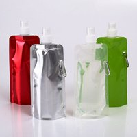 Wholesale Wholesale Plastic Foldable Water Bottles - High Quality Portable Water Bottle Foldable Water Bottles Plastic Bottle With Buckle For Outdoor Camping Hiking Beach Play Multi Colors