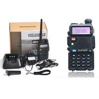 Wholesale Dtmf Handheld Radio - BaoFeng Walkie Talkie UV-5R BF-UV5R 5W 128CH UHF + VHF DTMF Two-Way Radio A0850A Free Shipping